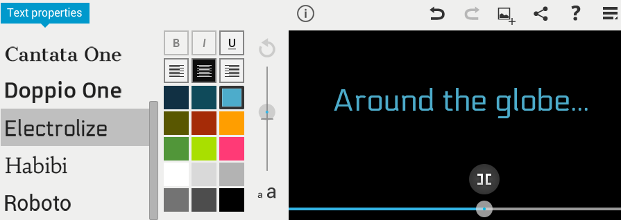 WeVideo Colors and Fonts