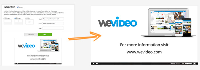 WeVideo Info Cards Business Video