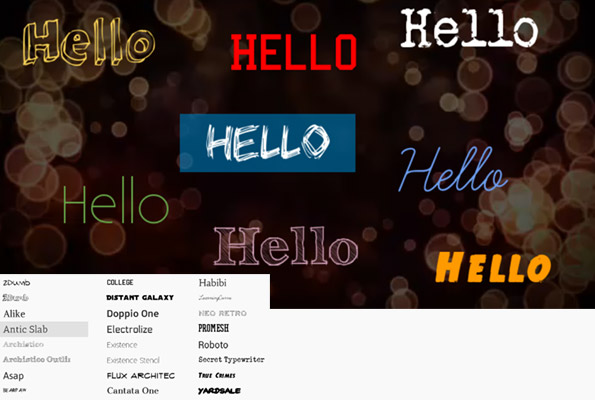WeVideo Fonts