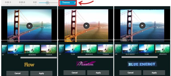 Updated WeVideo Themes