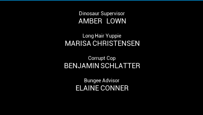 End Credits Movie Video Text