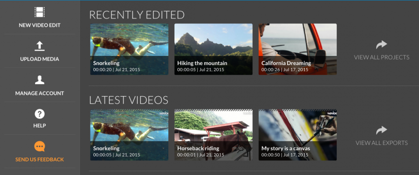 "Permalink to: ""Sneak Peek: WeVideo Dashboard"""