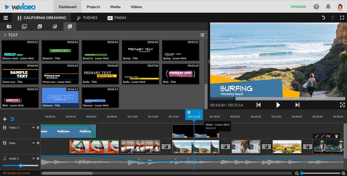 video editing software - wevideo