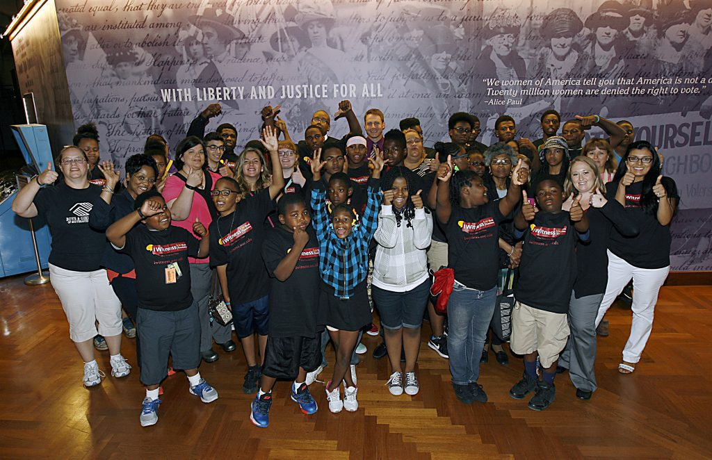 Students participate in the I Witness program sponsored by the USC Shoah Foundation at The Henry Ford Academy at The Henry Ford in Dearborn, Mich. Friday, Aug.14, 2015. Gary Malerba/Special To The Henry Ford