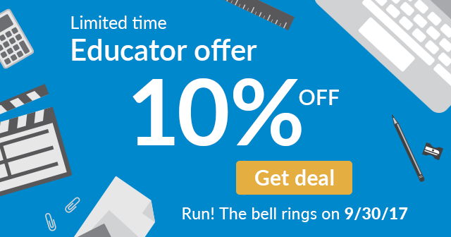 "Permalink to: ""Back to School Special: New Subscribers Take Additional 10% Off WeVideo for Schools Education Plans"""