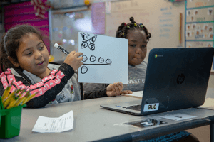 Creative learning in the classroom illumination stage