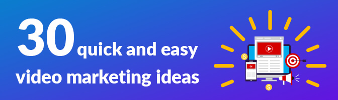 30 quick and easy marketing ideas banner