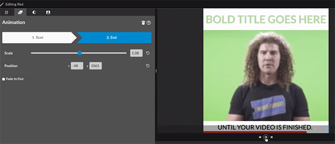 How to add a progress bar with WeVideo