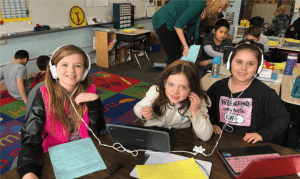 students using WeVideo