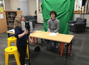 video green screen in the classroom