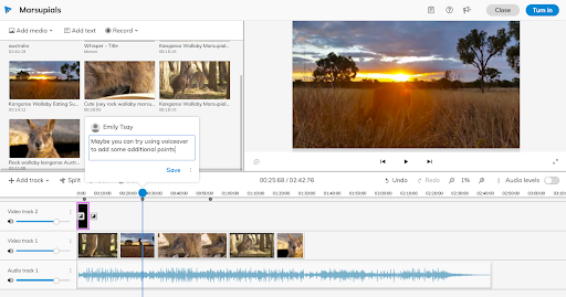 WeVideo for schools editor