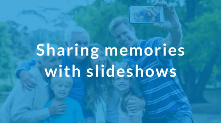 "Permalink to: ""Create and share memories with slideshows"""