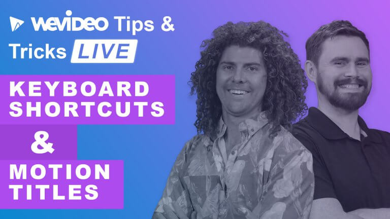 "Permalink to: ""How to use keyboard shortcuts in WeVideo"""