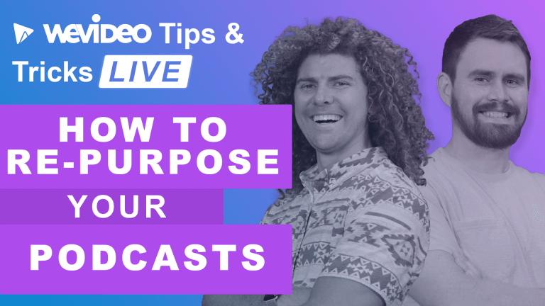 """Permalink to: """"How to re-purpose your podcasts in WeVideo"""""""