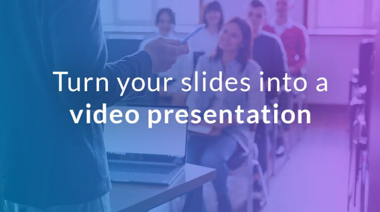 "Permalink to: ""Turn your slides into a high-quality video presentation"""